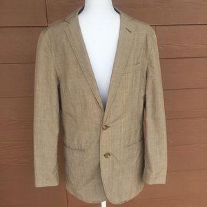 J Crew tan plaid lightweight ludlow jacket Small